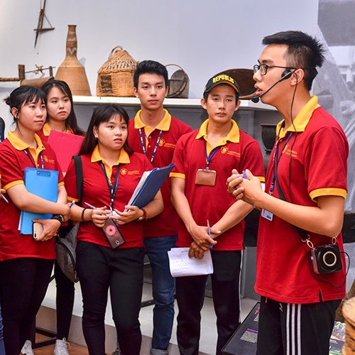 Students guide at practical learning sessions